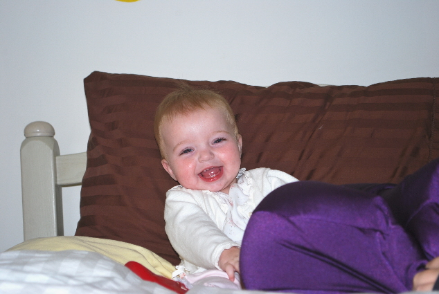 Having fun with the Happy Pillow!