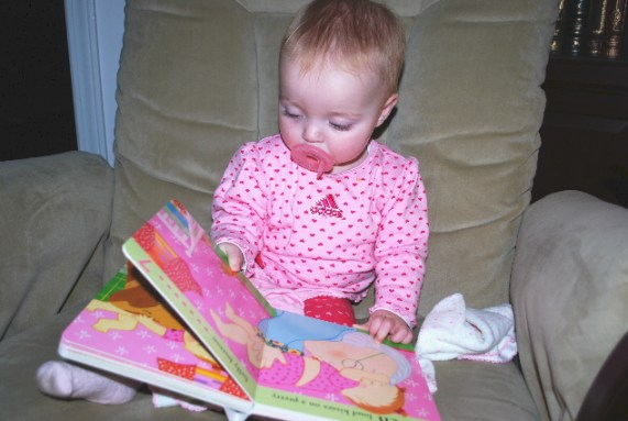 The Passy, helps my teething.... and the books well they are my favorite thing to look at...