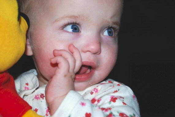 Teething is not fun, but I'm going to get a bunch in real soon!