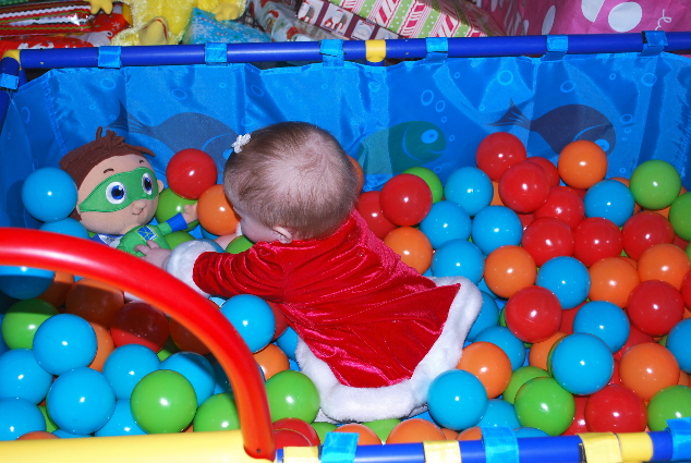 Me in a sea.... of love and play time.... HAPPY BABY, MERRY CHRISTMAS!