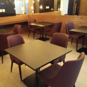 mesas e cadeiras para restaurante empresarial