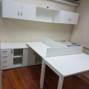 escritório com móveis planejados de uma escola