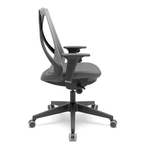 cadeira de escritório BIX encosto cinza