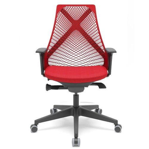 cadeira de escritório BIX encosto vermelho