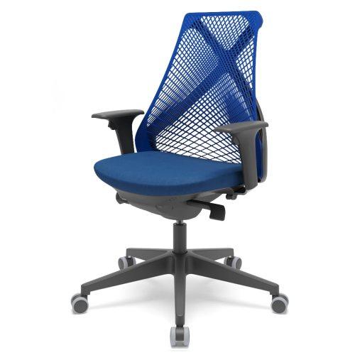 cadeira de escritório BIX encosto azul