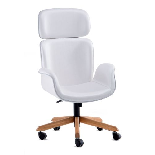 cadeira Amanda couro sintetico branco