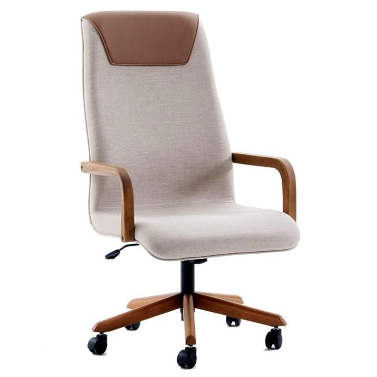 cadeira de escritório Boss com braços em madeira