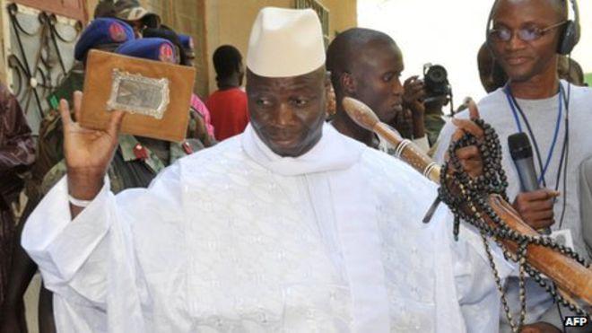 Le président Yahya Jammeh face — Gambie