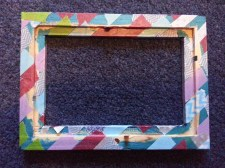 The back of a washi-taped frame