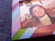 Washi -taped frame with picture of Nanan