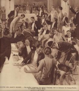 Le souper des Habits Rouges, par Léon Fauret, 1926