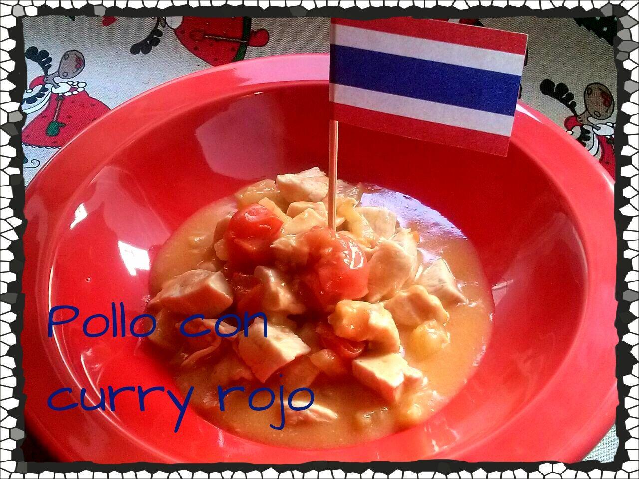 Curry Rojo con Pollo y Piña, Tailandia. (Cena de Navidad Worldwide)