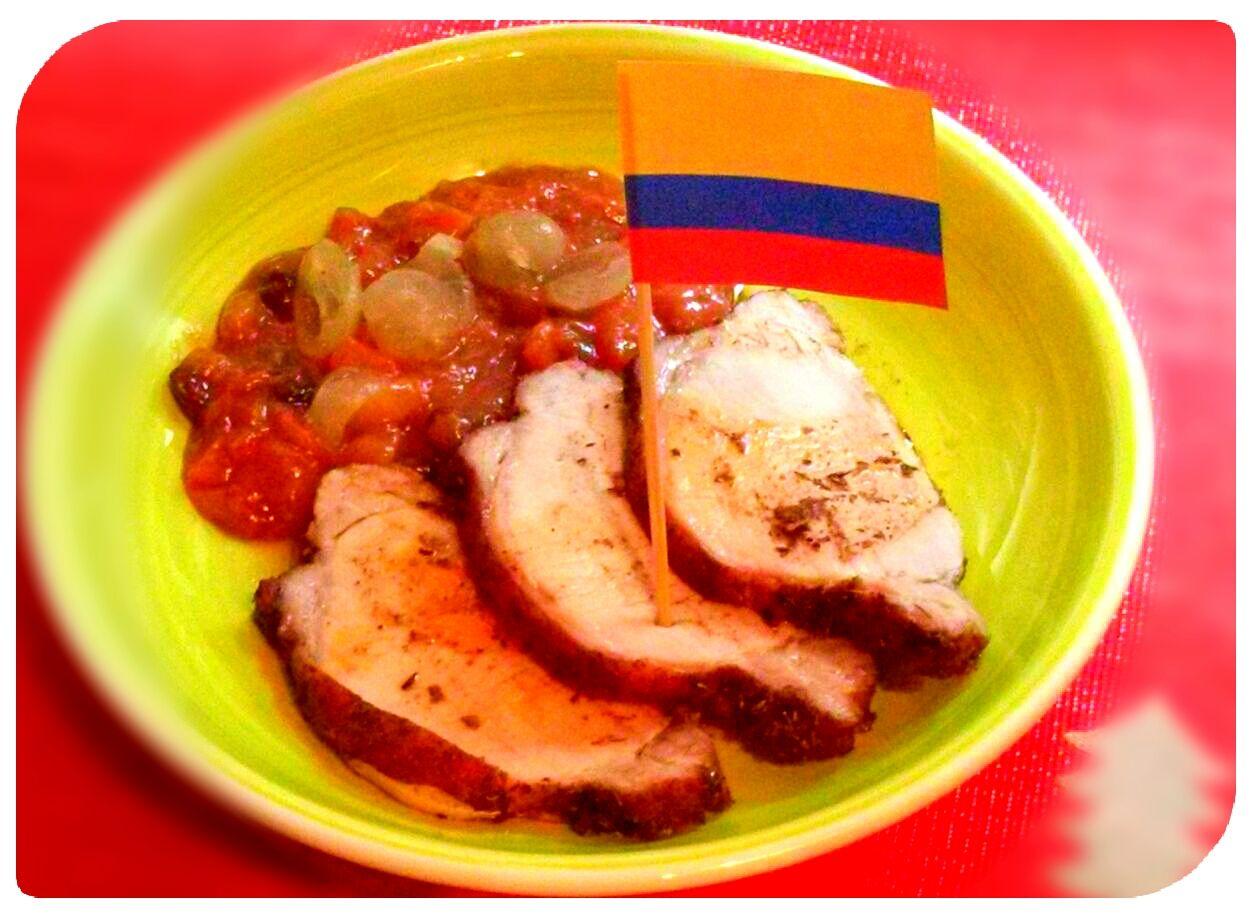 Lomito de cerdo en salsa de papaya, Colombia. (Cena de Navidad Worldwide)