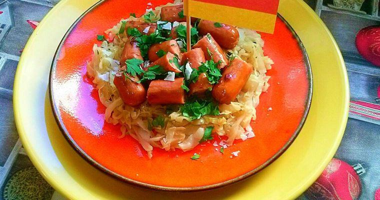 Chucrut con salchichas, receta alemana