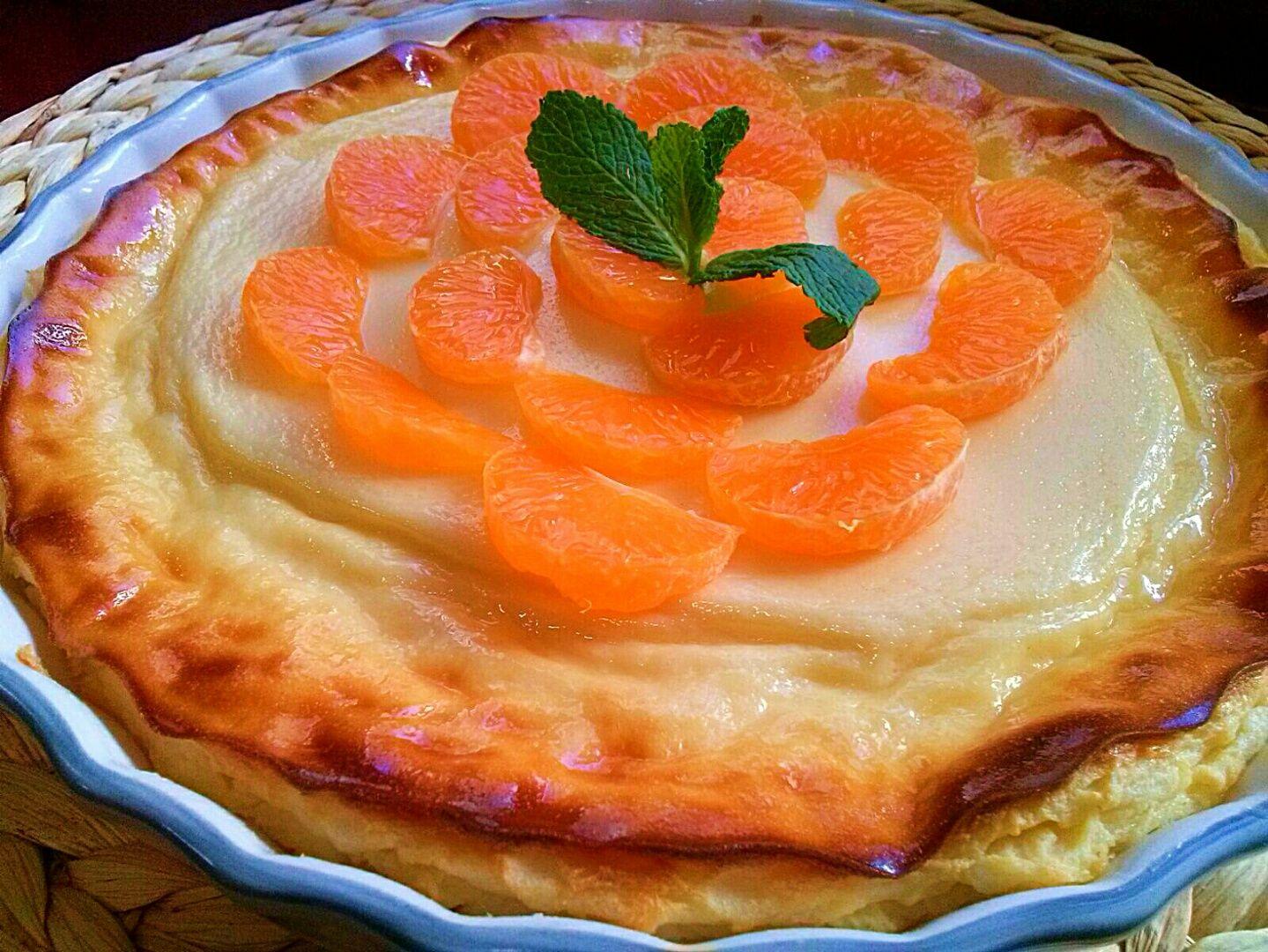 Tarta de queso y mandarinas. [Un postre ideal de otoño]