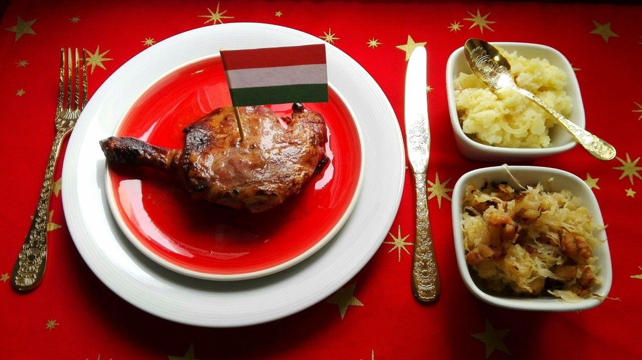Recetas de Hungría: Muslos de pato asados. [Cena de Navidad Worldwide]