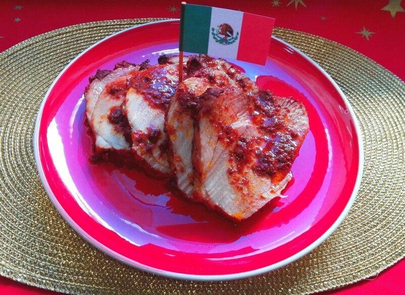 Pierna de cerdo enchilada, México. [Cena de Navidad Worldwide]