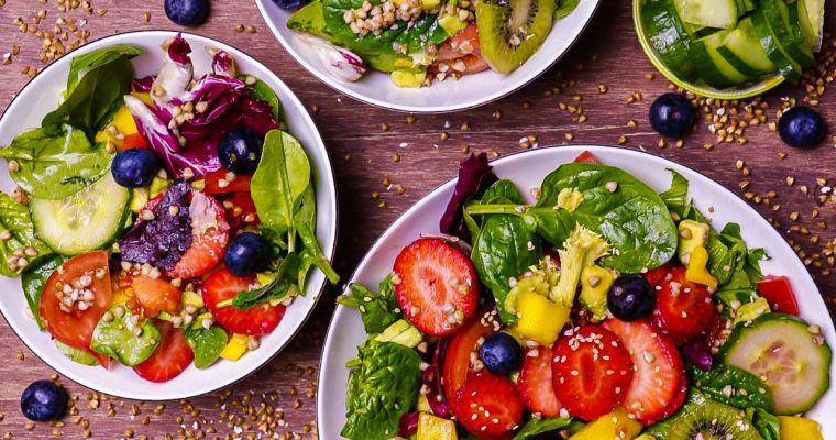Ensalada Wrap, basada en la dieta alcalina