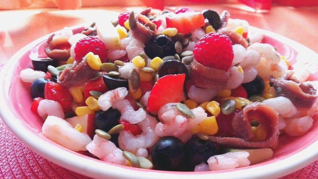 GAMBAS: Ensalada fresca con frutas