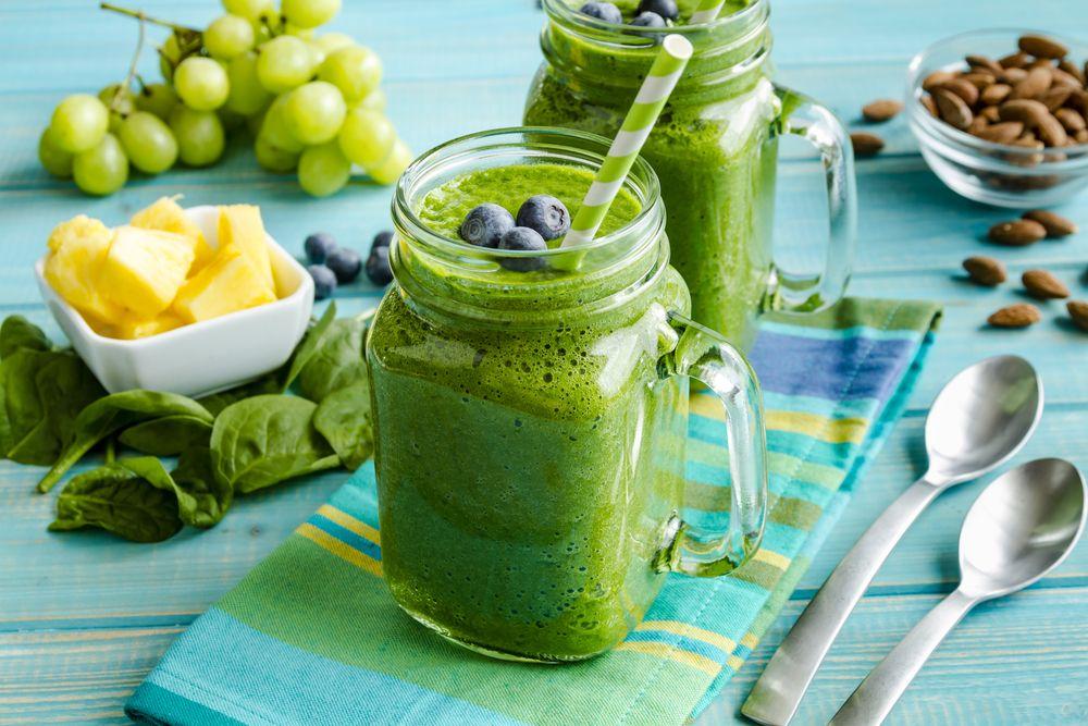 Smoothie verde. [Clorofila y antioxidantes]