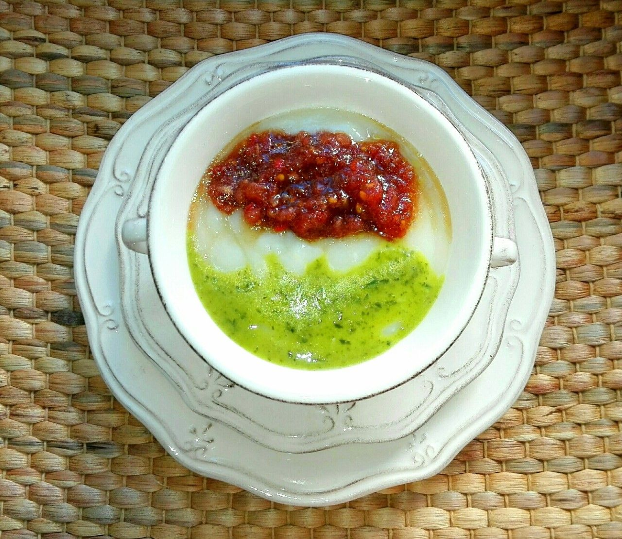 Receta de coliflor sana: Crema en dos aromas
