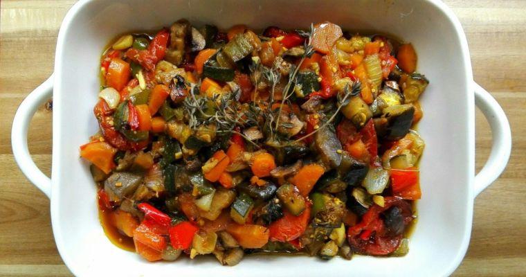 Verduras al horno. Una receta baja en calorías