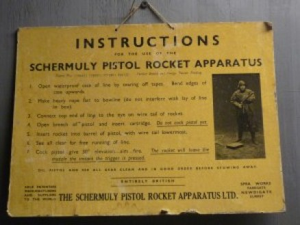Instructions on a pistol rocket apparatus written by a technical communicator