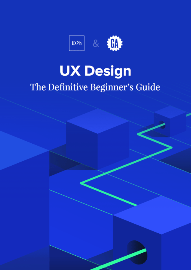 The cover of my ebook: The definitive beginner's guide to ux design