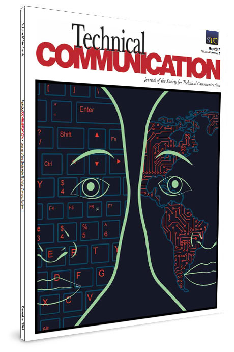 "The cover of the May 2017 cover of Technical Communication, published to: ""Localizing User Experience: Strategies, Practices, and Techniques for Culturally Sensitive Design"""