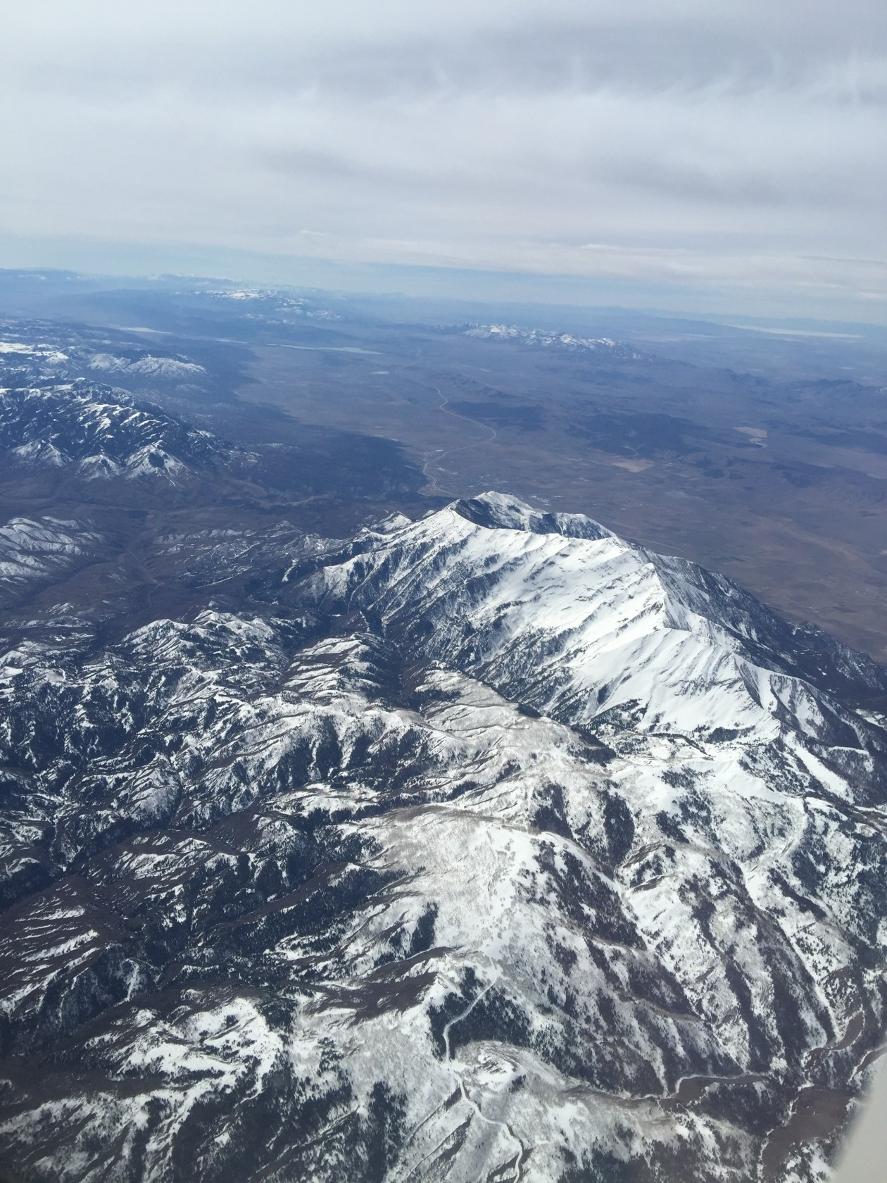 Flying over mountains and desserts (Utah, Arizona)