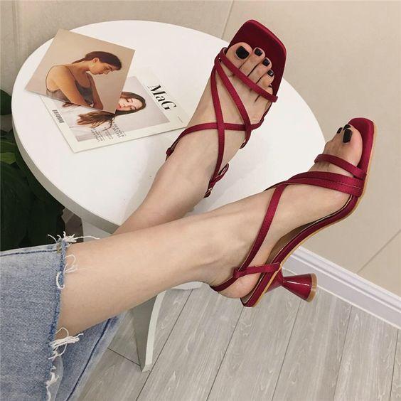 square sandals