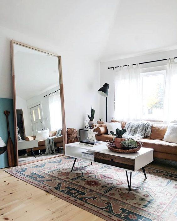 decoração de sala com espelhos