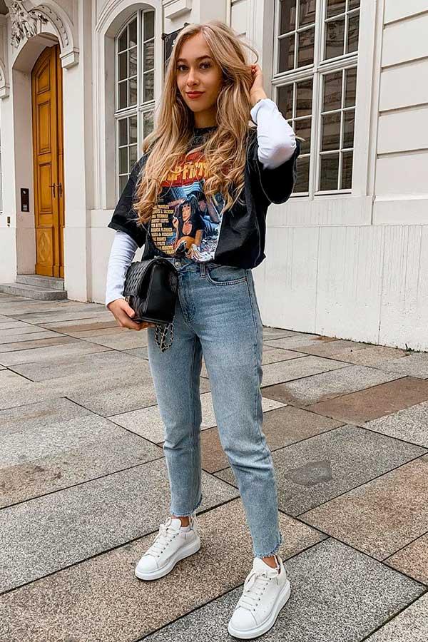 alizia zuschlag, sobreposição com blusa de manga e t-shirt