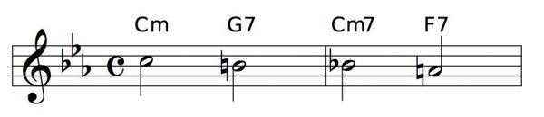 Cm - G7 - Cm7 - F7