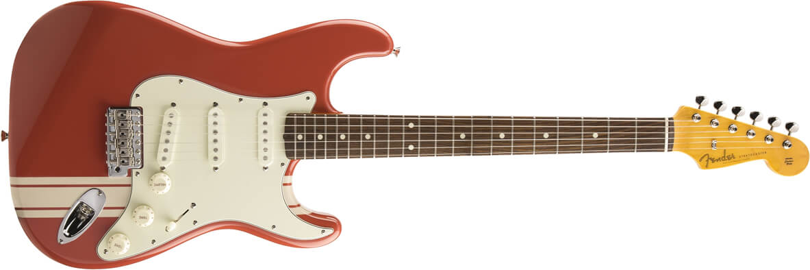 60s Stratocaster Limited Run Fiesta Red Stripe