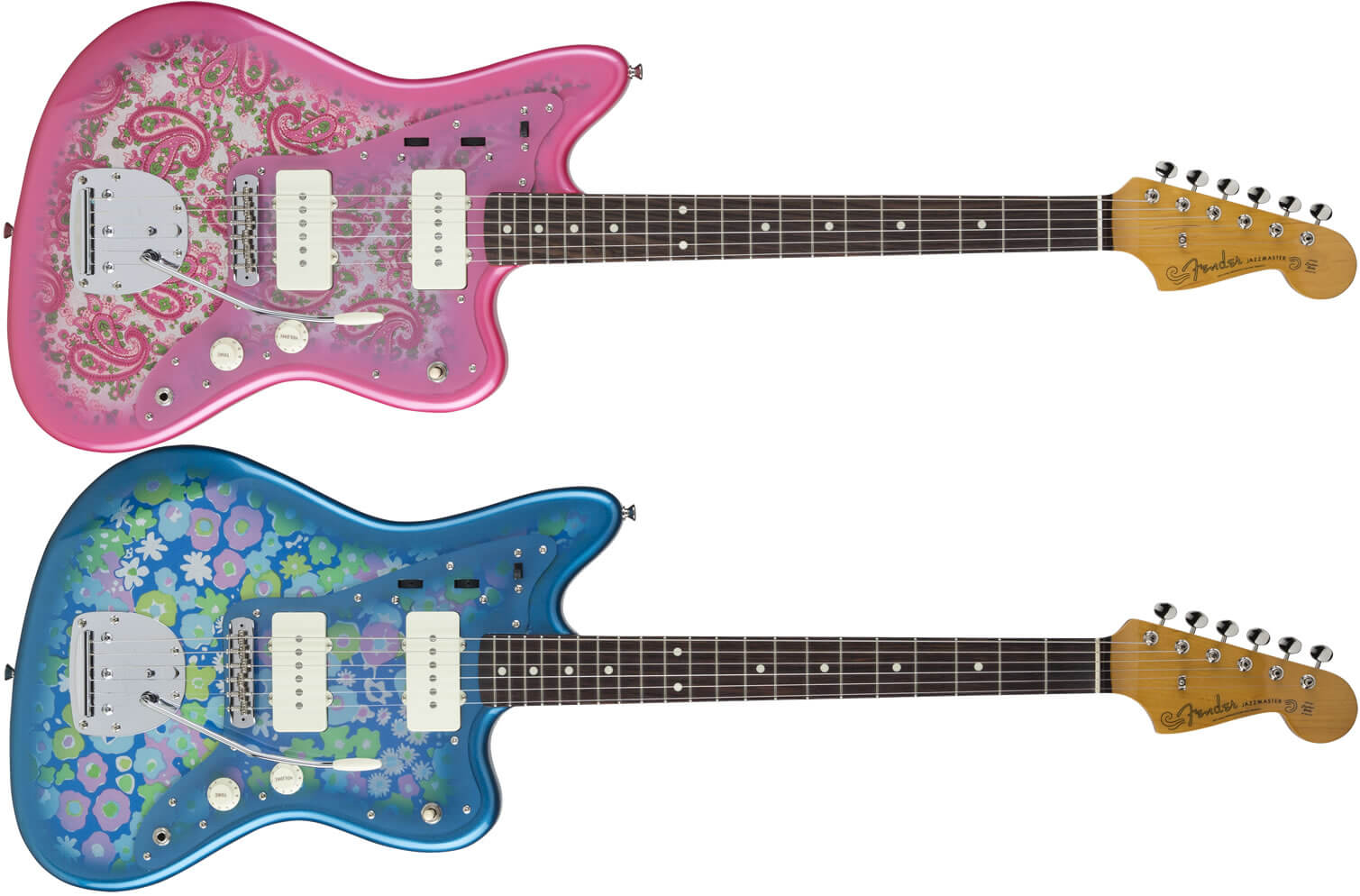 PINK PAISLEY、BLUE FLOWER