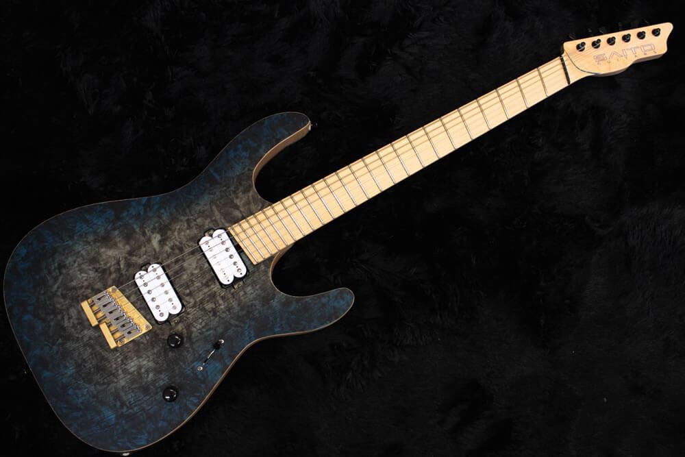 ファンフレットのギター