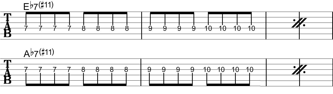 放課後ギタークラブ:#6のTab譜