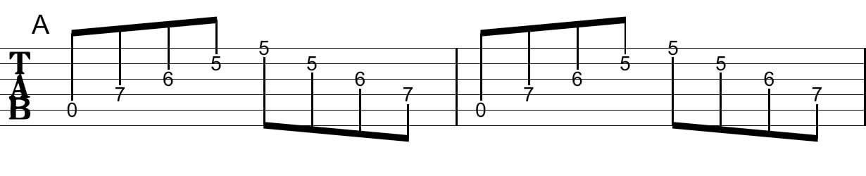 アルペジオの工夫:Tab譜1