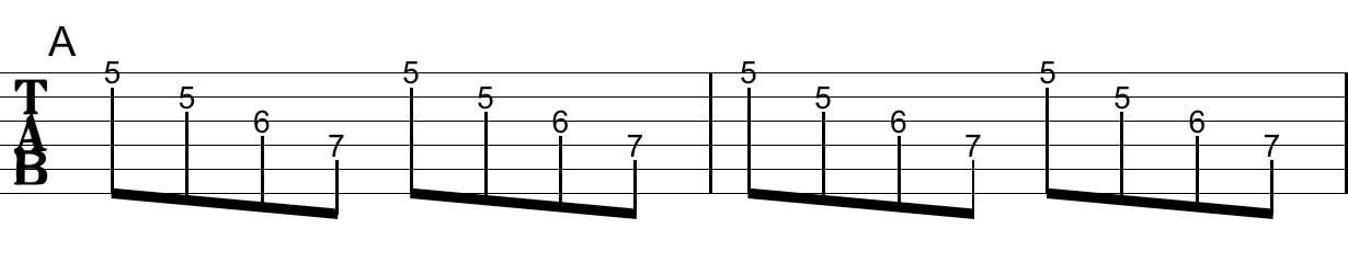 アルペジオの工夫:Tab譜3