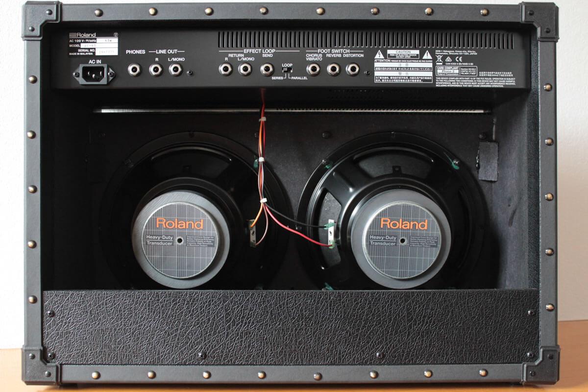 Roland JC-40:リアパネル