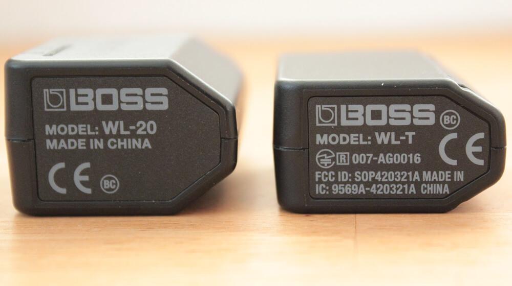 BOSS WL-20:本体底面