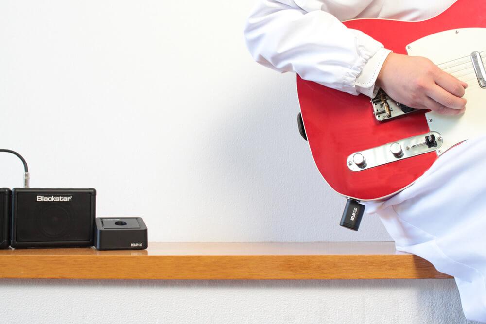 ギターワイヤレス:装着イメージ