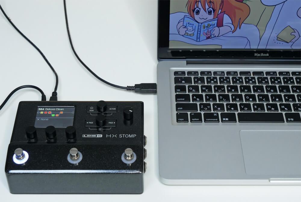 HX Stompとパソコン