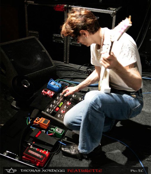 Steve Vai pedalboard with g system