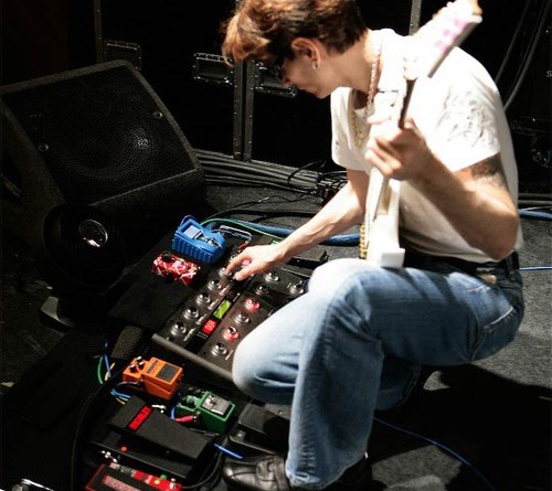 Steve Vai pedalbard and guitar rig