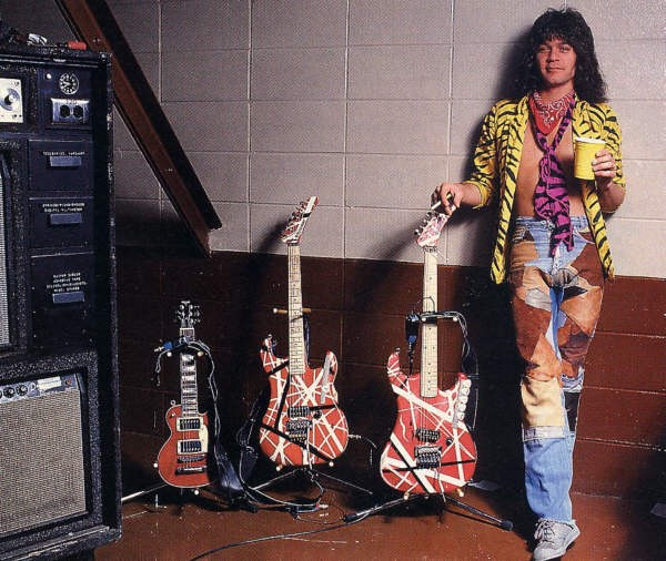 EVH 1984 backstage with Kramer guitars