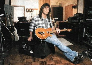 EVH in studio with EB Musicman