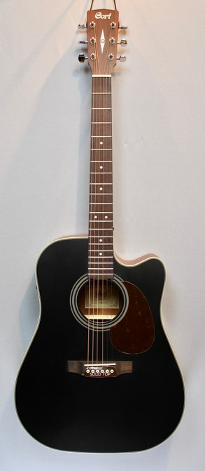 Cort MR 500E blk Westerngitarre2
