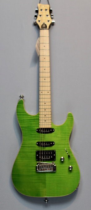 Framus Spitfire Custom Transparent Green Custom Shop